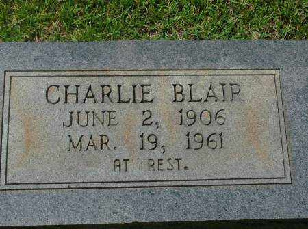 BLAIR, CHARLIE - Saline County, Arkansas | CHARLIE BLAIR - Arkansas Gravestone Photos