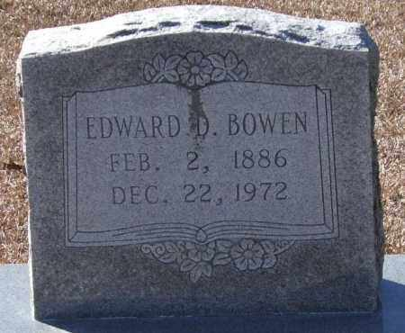 BOWEN, EDWARD D. - Saline County, Arkansas | EDWARD D. BOWEN - Arkansas Gravestone Photos