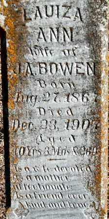 BOWEN, LAUIZA ANN (CLOSEUP) - Saline County, Arkansas | LAUIZA ANN (CLOSEUP) BOWEN - Arkansas Gravestone Photos