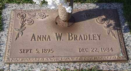 BRADLEY, ANNA W. - Saline County, Arkansas | ANNA W. BRADLEY - Arkansas Gravestone Photos