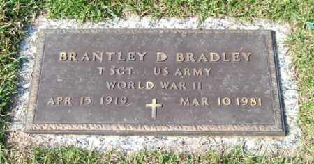 BRADLEY (VETERAN WWII), BRANTLEY D - Saline County, Arkansas | BRANTLEY D BRADLEY (VETERAN WWII) - Arkansas Gravestone Photos