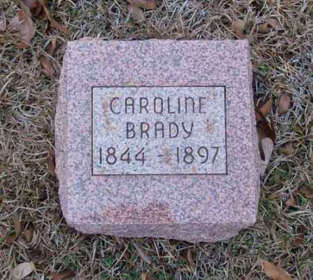 BRADY, CAROLINE - Saline County, Arkansas | CAROLINE BRADY - Arkansas Gravestone Photos