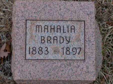 BRADY, MAHALIA - Saline County, Arkansas | MAHALIA BRADY - Arkansas Gravestone Photos