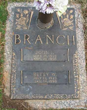 BRANCH, JOHN L. - Saline County, Arkansas | JOHN L. BRANCH - Arkansas Gravestone Photos