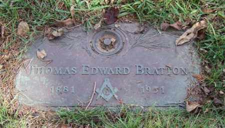 BRATTON, THOMAS EDWARD - Saline County, Arkansas | THOMAS EDWARD BRATTON - Arkansas Gravestone Photos
