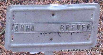 BREWER, ANNA - Saline County, Arkansas | ANNA BREWER - Arkansas Gravestone Photos
