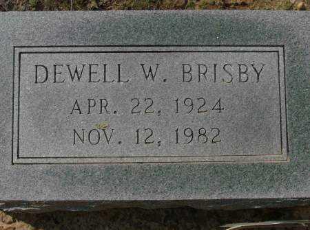 BRISBY, DEWELL W. - Saline County, Arkansas | DEWELL W. BRISBY - Arkansas Gravestone Photos