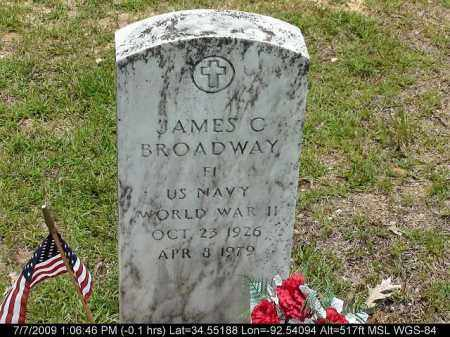 BROADWAY (VETERAN WWII), JAMES C - Saline County, Arkansas | JAMES C BROADWAY (VETERAN WWII) - Arkansas Gravestone Photos