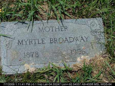 BROADWAY, MYRTLE - Saline County, Arkansas | MYRTLE BROADWAY - Arkansas Gravestone Photos