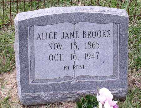TILLERY BROOKS, ALICE JANE - Saline County, Arkansas | ALICE JANE TILLERY BROOKS - Arkansas Gravestone Photos