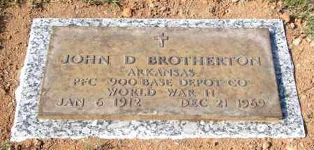 BROTHERTON (VETERAN WWII), JOHN D - Saline County, Arkansas | JOHN D BROTHERTON (VETERAN WWII) - Arkansas Gravestone Photos