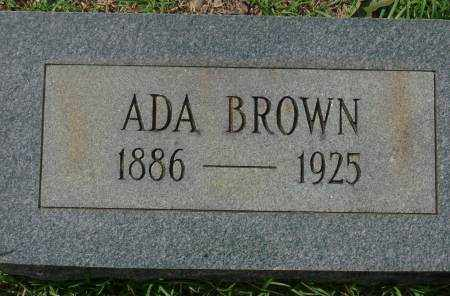 BROWN, ADA - Saline County, Arkansas | ADA BROWN - Arkansas Gravestone Photos