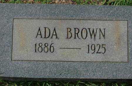 BROWN, ADA - Saline County, Arkansas | ADA BROWN - Arkansas Gravestone Photos