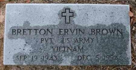 BROWN (VETERAN VIET), BRETTON ERVIN - Saline County, Arkansas   BRETTON ERVIN BROWN (VETERAN VIET) - Arkansas Gravestone Photos