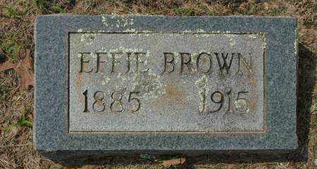 BROWN, EFFIE - Saline County, Arkansas | EFFIE BROWN - Arkansas Gravestone Photos