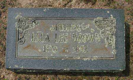 BROWN, ELLA LEE - Saline County, Arkansas | ELLA LEE BROWN - Arkansas Gravestone Photos