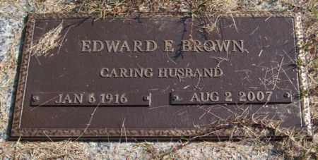 BROWN, EDWARD E. - Saline County, Arkansas | EDWARD E. BROWN - Arkansas Gravestone Photos