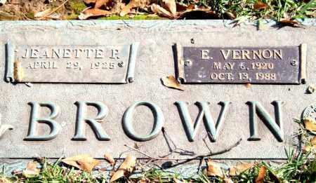BROWN, E. VERNON - Saline County, Arkansas | E. VERNON BROWN - Arkansas Gravestone Photos