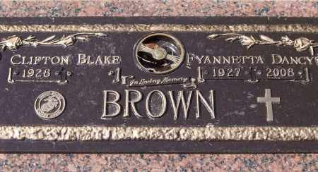BROWN, FYANNETTA DANCY - Saline County, Arkansas | FYANNETTA DANCY BROWN - Arkansas Gravestone Photos