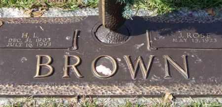 BROWN, H. L. - Saline County, Arkansas | H. L. BROWN - Arkansas Gravestone Photos