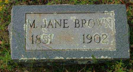 BROWN, M. JANE - Saline County, Arkansas | M. JANE BROWN - Arkansas Gravestone Photos