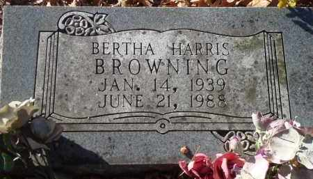 HARRIS BROWNING, BERTHA - Saline County, Arkansas | BERTHA HARRIS BROWNING - Arkansas Gravestone Photos