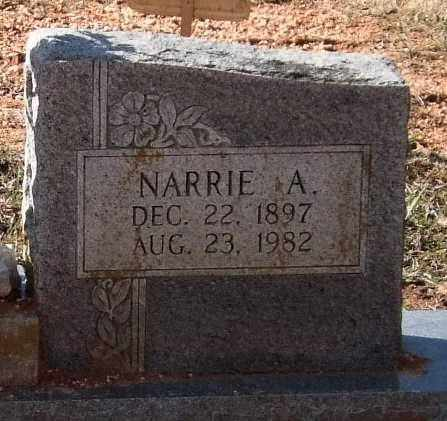 BRUCE, NARRIE A. (CLOSEUP) - Saline County, Arkansas | NARRIE A. (CLOSEUP) BRUCE - Arkansas Gravestone Photos