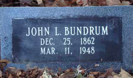 BUNDRUM, JOHN L - Saline County, Arkansas | JOHN L BUNDRUM - Arkansas Gravestone Photos