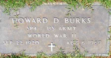 BURKS (VETERAN WWII), HOWARD D - Saline County, Arkansas | HOWARD D BURKS (VETERAN WWII) - Arkansas Gravestone Photos