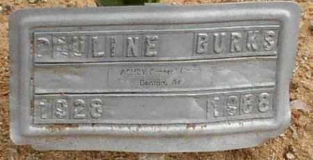 BURKS, PAULINE - Saline County, Arkansas | PAULINE BURKS - Arkansas Gravestone Photos