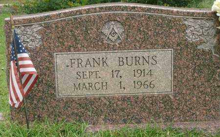 BURNS, FRANK - Saline County, Arkansas | FRANK BURNS - Arkansas Gravestone Photos