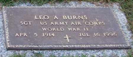 BURNS (VETERAN WWII), LEO A - Saline County, Arkansas | LEO A BURNS (VETERAN WWII) - Arkansas Gravestone Photos