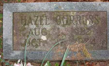 BURRUSS, HAZEL - Saline County, Arkansas | HAZEL BURRUSS - Arkansas Gravestone Photos