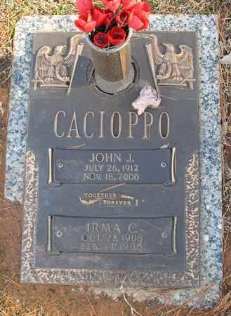 CACIOPPO, JOHN J. - Saline County, Arkansas | JOHN J. CACIOPPO - Arkansas Gravestone Photos