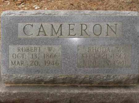 CAMERON, ROBERT W. - Saline County, Arkansas | ROBERT W. CAMERON - Arkansas Gravestone Photos