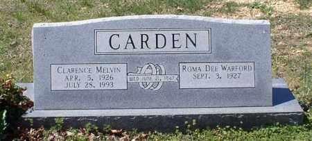 CARDEN, CLARENCE MELVIN - Saline County, Arkansas | CLARENCE MELVIN CARDEN - Arkansas Gravestone Photos