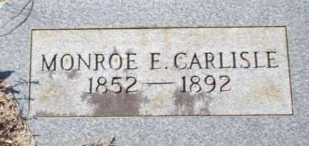 CARLISLE, MONROE E - Saline County, Arkansas | MONROE E CARLISLE - Arkansas Gravestone Photos