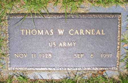 CARNEAL (VETERAN), THOMAS W - Saline County, Arkansas | THOMAS W CARNEAL (VETERAN) - Arkansas Gravestone Photos