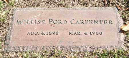 FORD CARPENTER, WILLISE - Saline County, Arkansas | WILLISE FORD CARPENTER - Arkansas Gravestone Photos