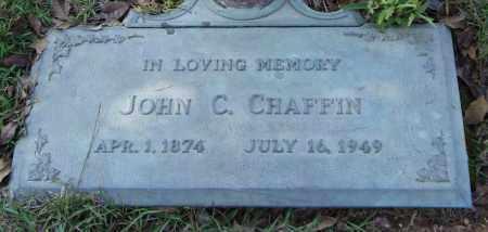 CHAFFIN, JOHN C. - Saline County, Arkansas | JOHN C. CHAFFIN - Arkansas Gravestone Photos
