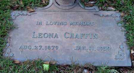 CHAFFIN, LEONA - Saline County, Arkansas | LEONA CHAFFIN - Arkansas Gravestone Photos