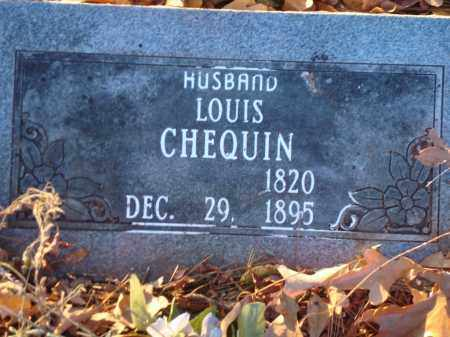 CHEQUIN, LOUIS - Saline County, Arkansas | LOUIS CHEQUIN - Arkansas Gravestone Photos