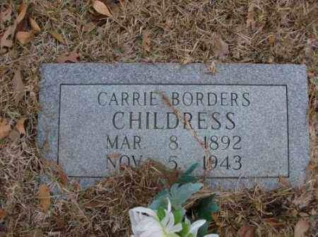 BORDERS CHILDRESS, CARRIE - Saline County, Arkansas | CARRIE BORDERS CHILDRESS - Arkansas Gravestone Photos
