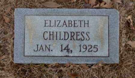 CHILDRESS, ELIZABETH - Saline County, Arkansas | ELIZABETH CHILDRESS - Arkansas Gravestone Photos