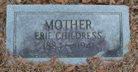 CHILDRESS, ERIE - Saline County, Arkansas | ERIE CHILDRESS - Arkansas Gravestone Photos