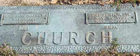 CHURCH, JOSEPHINE - Saline County, Arkansas | JOSEPHINE CHURCH - Arkansas Gravestone Photos