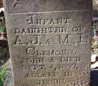 CLEMONS, INFANT DAUGHTER - Saline County, Arkansas | INFANT DAUGHTER CLEMONS - Arkansas Gravestone Photos