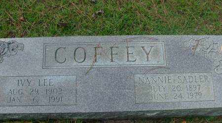COFFEY, NANNIE - Saline County, Arkansas | NANNIE COFFEY - Arkansas Gravestone Photos