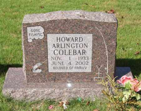 COLEBAR, HOWARD ARLINGTON - Saline County, Arkansas | HOWARD ARLINGTON COLEBAR - Arkansas Gravestone Photos