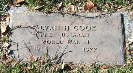 COOK (VETERAN WWII), ALVAH H - Saline County, Arkansas | ALVAH H COOK (VETERAN WWII) - Arkansas Gravestone Photos